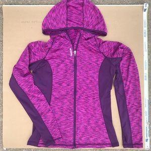 Rebook pink and purple zip up